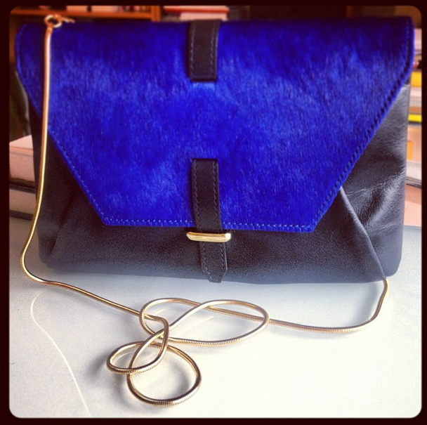 reiss cross body bag blue