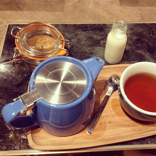 tea at workshop