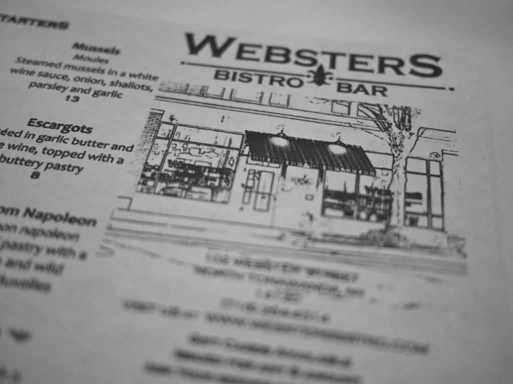 Websters bistro, north tonawanda