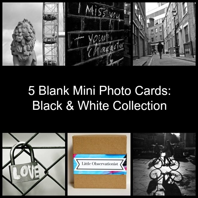 Little Observationist Mini Photo Cards - Black and White Collection