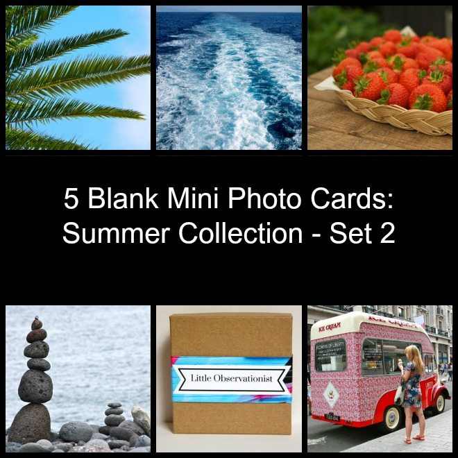 Little Observationist Mini Photo Cards - Summer Collection - Set 2