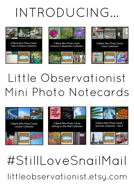 Stephanie Sadler, Little Observationist, Mini Photo Note Cards