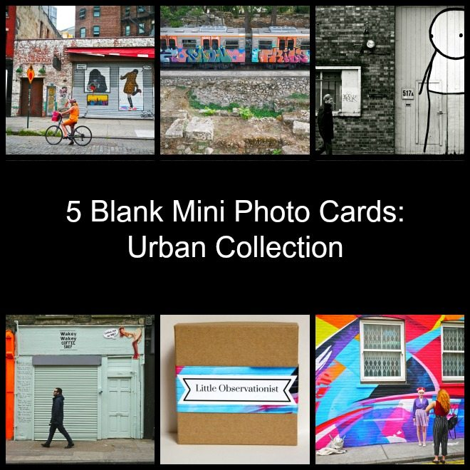 Little Observationist Mini Photo Cards - Urban Collection
