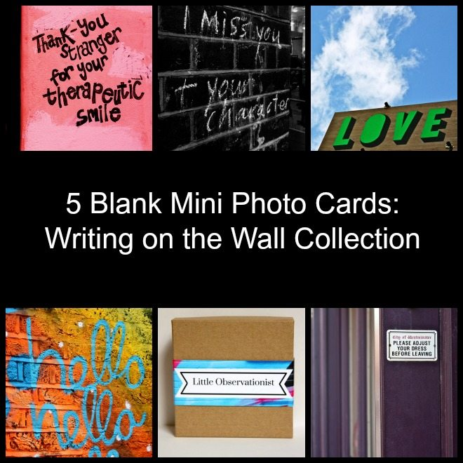 Little Observationist Mini Photo Cards - Writing on the Wall Collection