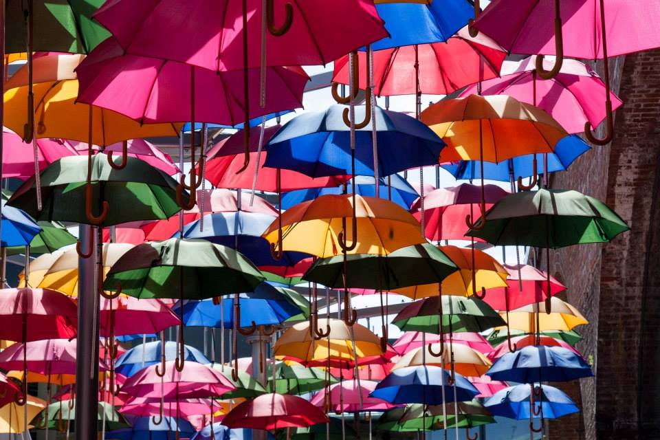 Umbrellas in Borough Market, London  by Stephanie Sadler, Little Observationist