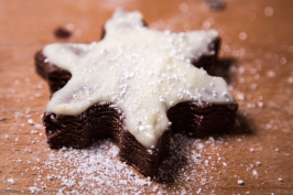 Snowflake Brownie Cookies by Stephanie Sadler